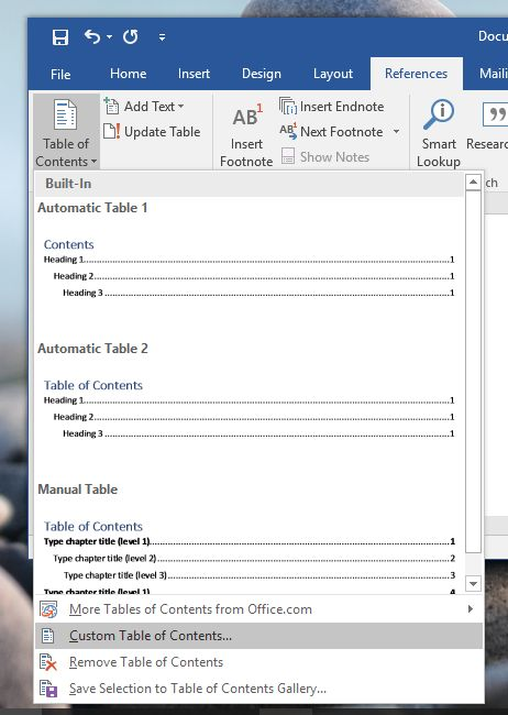 how to customize heading levels shown in table of contents in ms word How To Customize Heading Levels Shown In Table Of Contents In MS Word