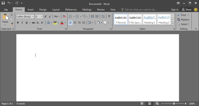 office 2016 dark theme