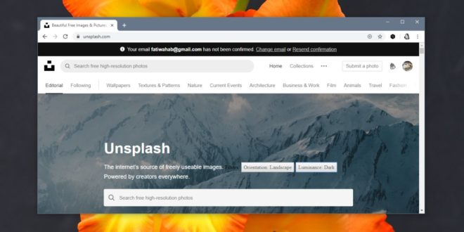 How to find landscape photos on Unsplash for wallpapers