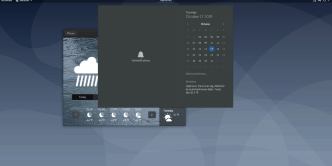 How to check the weather in Gnome Shell