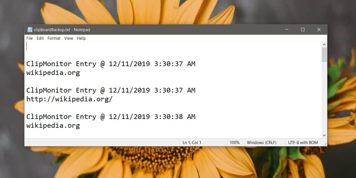 how to log clipboard entries on windows 10 3 How to log clipboard entries on Windows 10