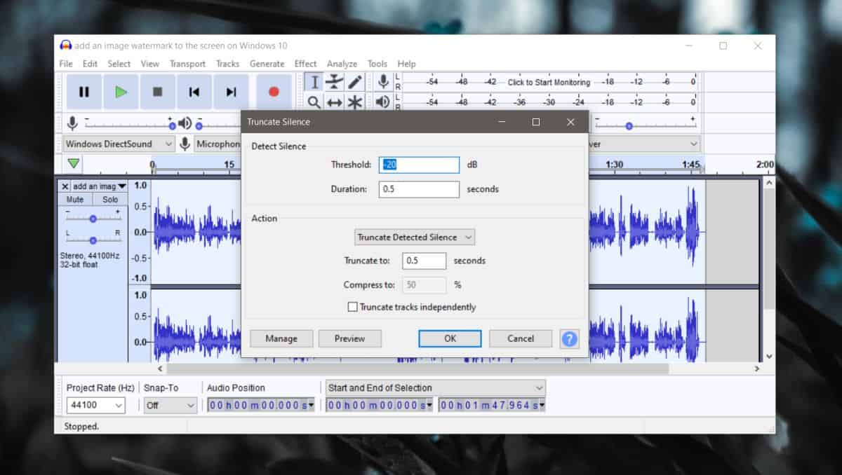 how to remove silence from an audio file on windows 10 1 How to remove silence from an audio file on Windows 10