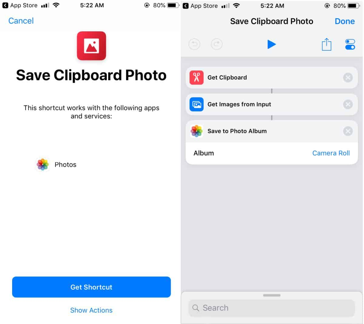 how to save a photo from the clipboard to the camera roll on ios How to save a photo from the clipboard to the camera roll on iOS