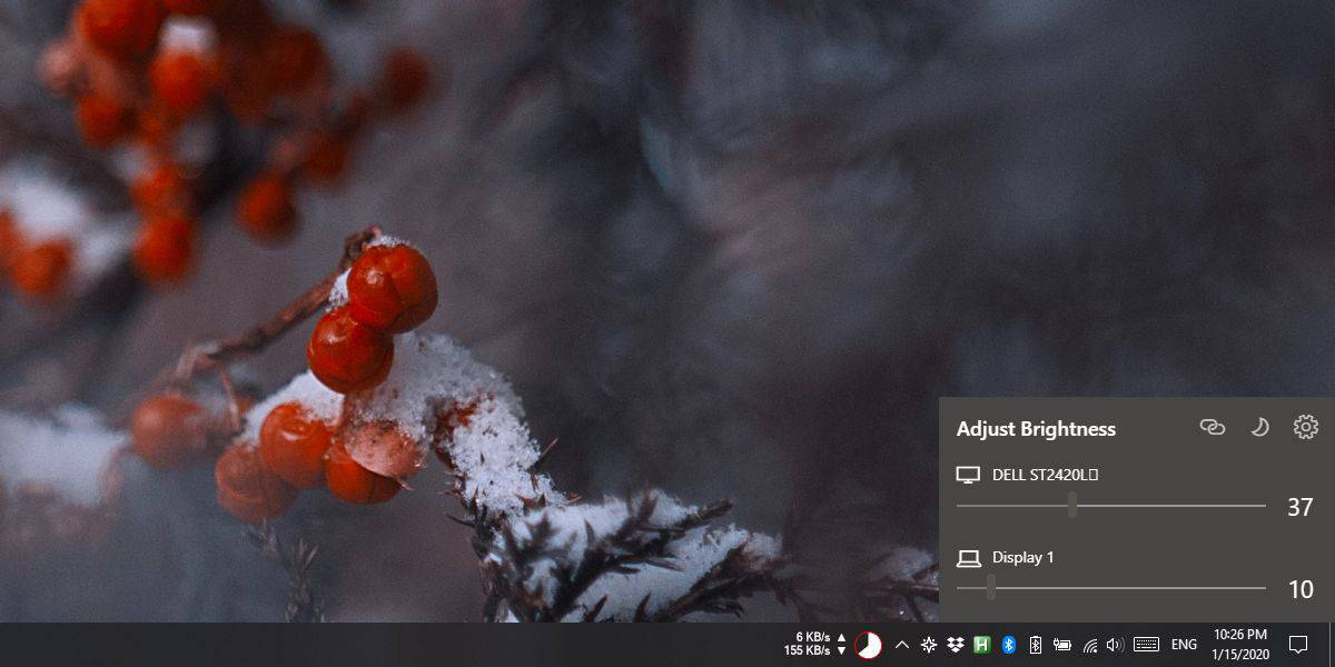 how to manage brightness for multiple monitors from the system tray on windows 10 How to manage brightness for multiple monitors from the system tray on Windows 10