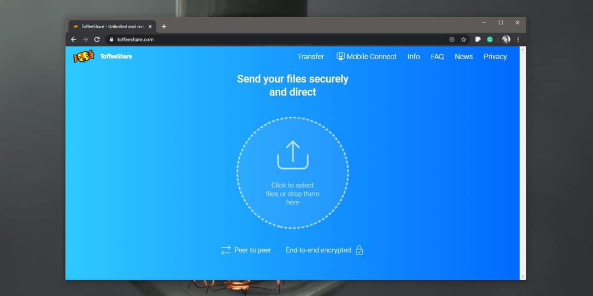 how to send files over a p2p connection from a browser How to send files over a P2P connection from a browser