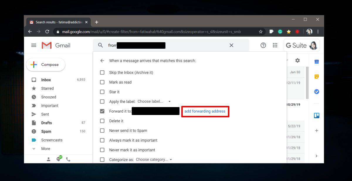 how to automatically forward emails from a specific address in gmail 1 How to automatically forward emails from a specific address in Gmail