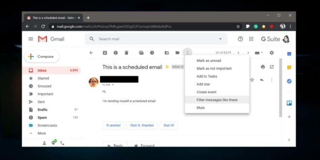 How to automatically forward emails from a specific address in Gmail