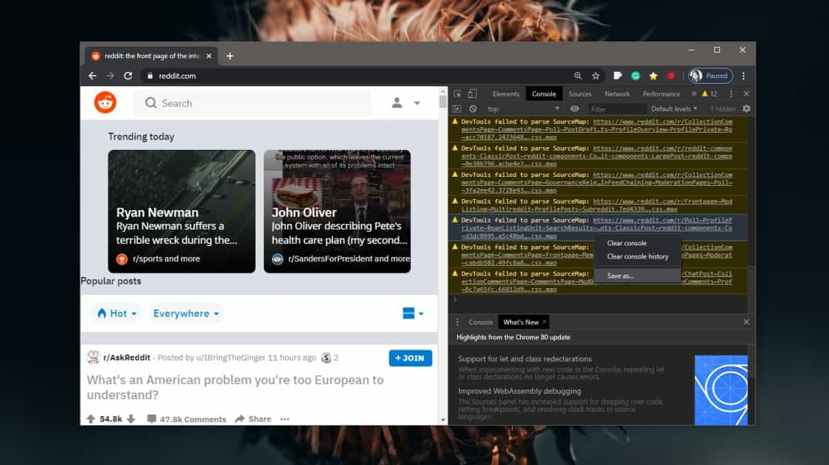 how to view and save the console log in a browser 1 How to view and save the console log in a browser