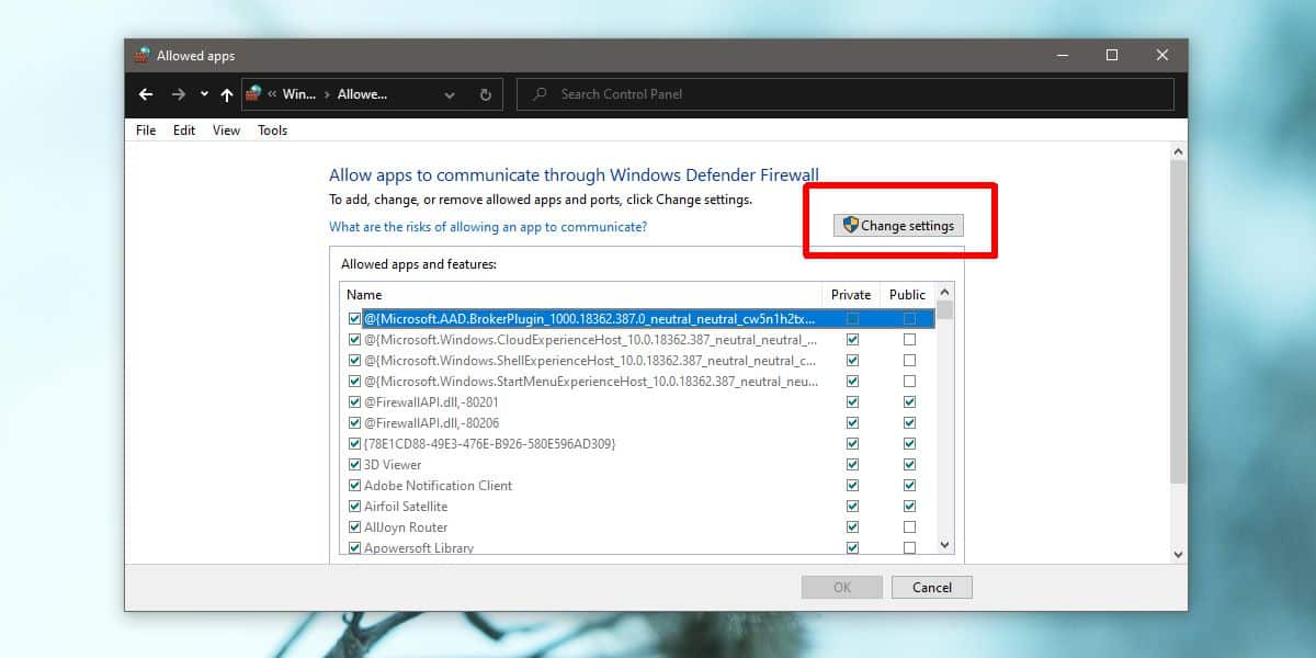 how to allow an app to communicate over the network on windows 10 1 How to allow an app to communicate over the network on Windows 10