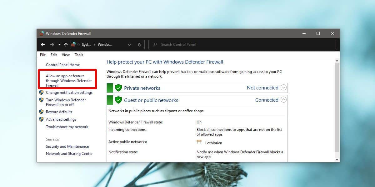how to allow an app to communicate over the network on windows 10 How to allow an app to communicate over the network on Windows 10