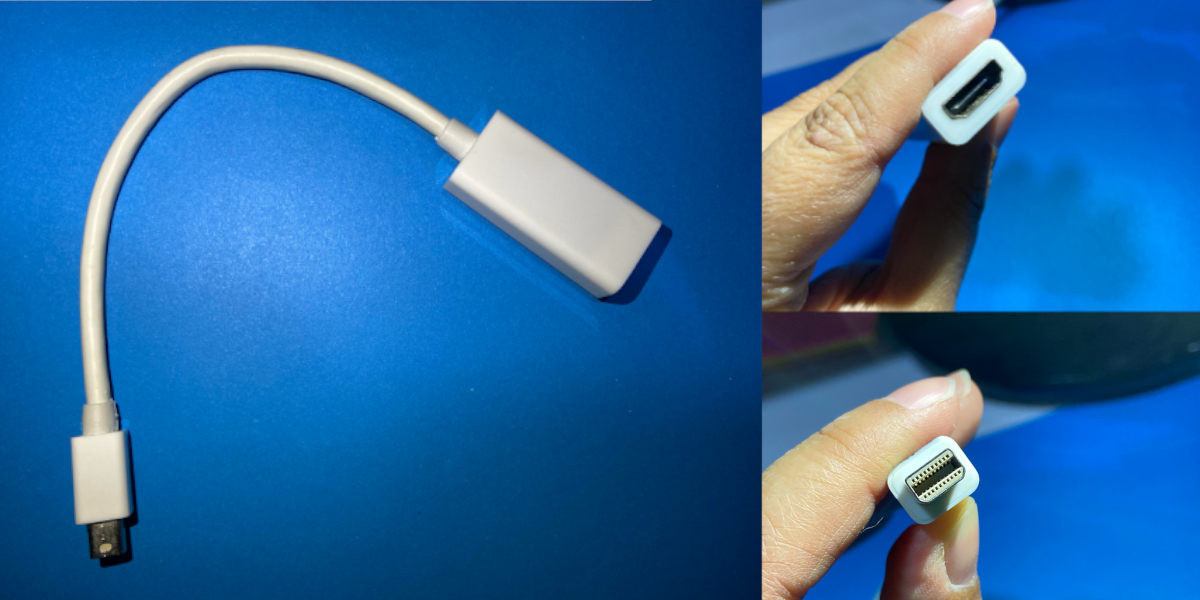 how to connect an hdmi display to a thunderbolt display port on a macbook How to connect an HDMI display to a Thunderbolt display port on a MacBook