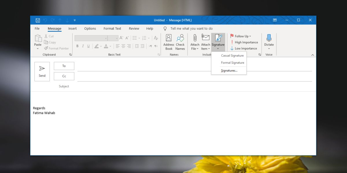 how to create a signature in outlook for office 365 on windows 10 3 How to create a signature in Outlook for Office 365 on Windows 10
