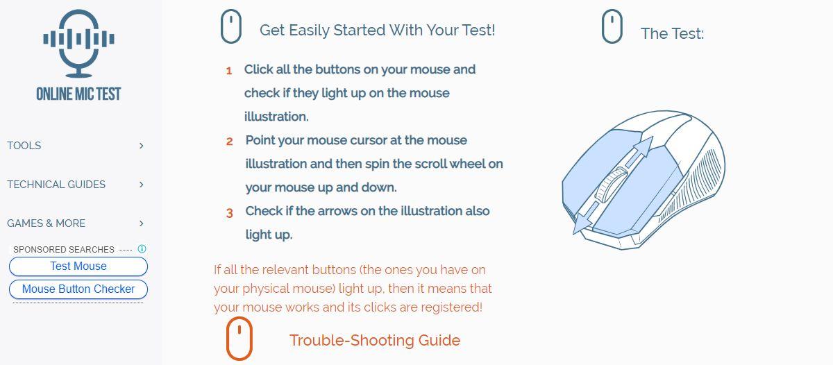 how to test mouse buttons 1 How to test mouse buttons