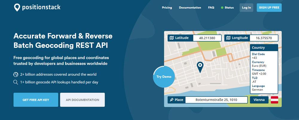 PositionStack - Accurate Forward-&-Reverse-Batch-Geocoding-REST-API