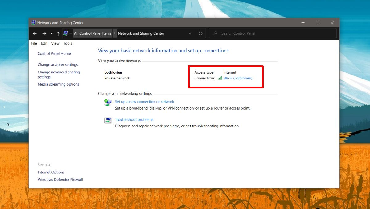 how to find the connection speed of a network adapter on windows 10 How to find the connection speed of a network adapter on Windows 10