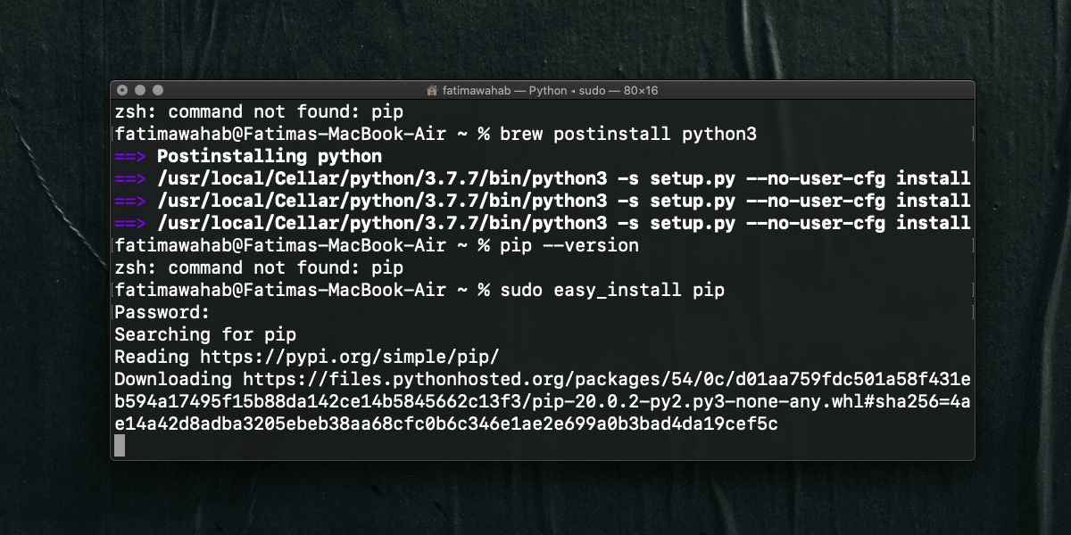 how to fix setup py no user cfg install error for pip on macos 1 How to fix 'setup.py –no-user-cfg install' error for pip on macOS