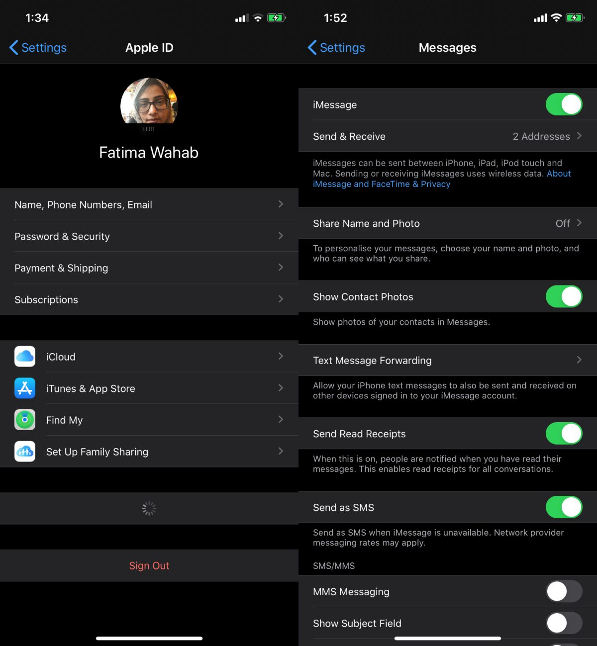"""how to fix sharing name and photo not available on ios 1 How to fix """"Sharing name and photo not available"""" on iOS"""