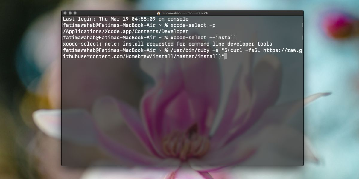how to install homebrew on macos catalina 1 How to install Homebrew on macOS Catalina