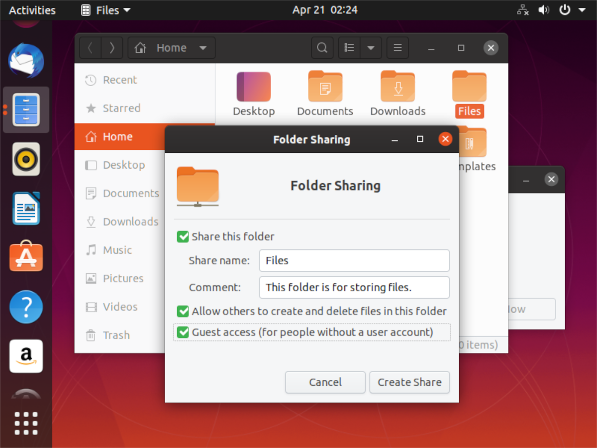 how to share folders from an ubuntu pc to the network 4 How to share folders from an Ubuntu PC to the network