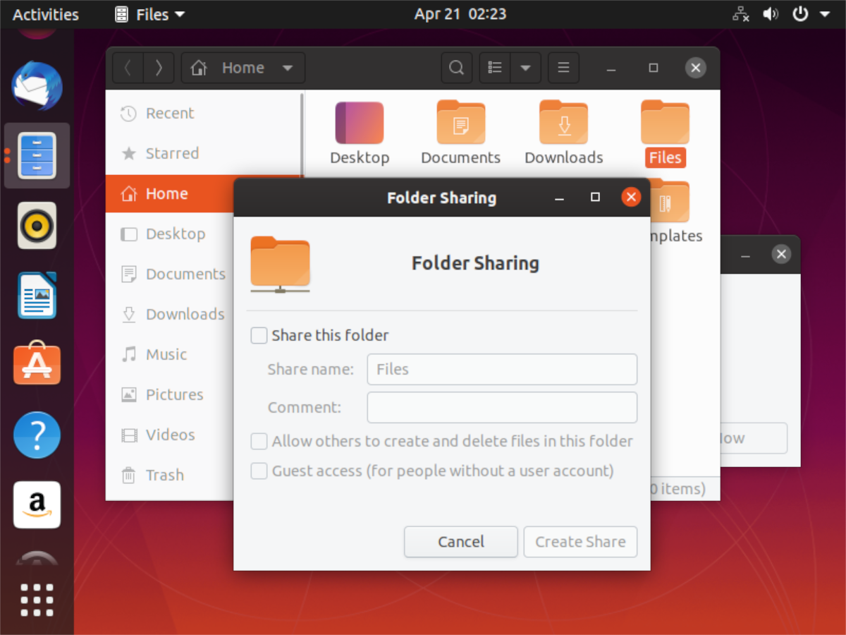 how to share folders from an ubuntu pc to the network How to share folders from an Ubuntu PC to the network