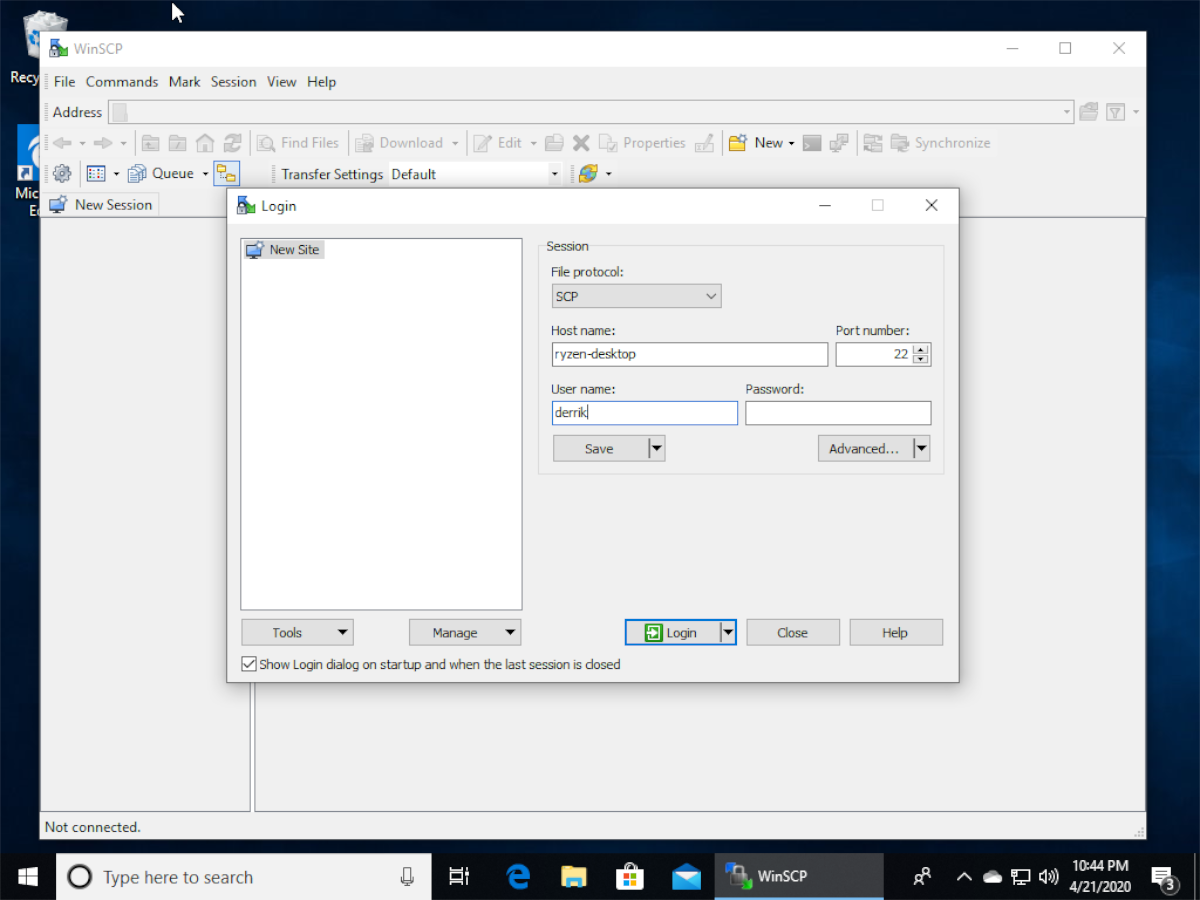 how to transfer files to linux from windows 10 over ssh 3 How to transfer files to Linux from Windows 10 over SSH