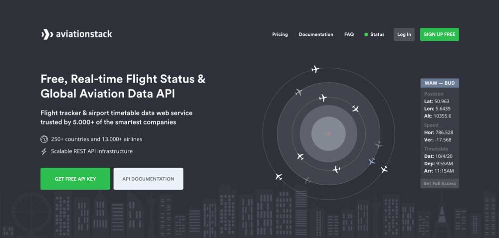Real-time Flight Status & Global Aviation Data API