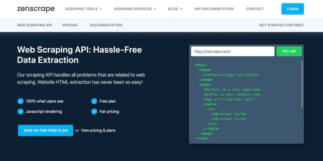 Streamlined, Fully Customizable Web Scraping with Zenscrape (Review)