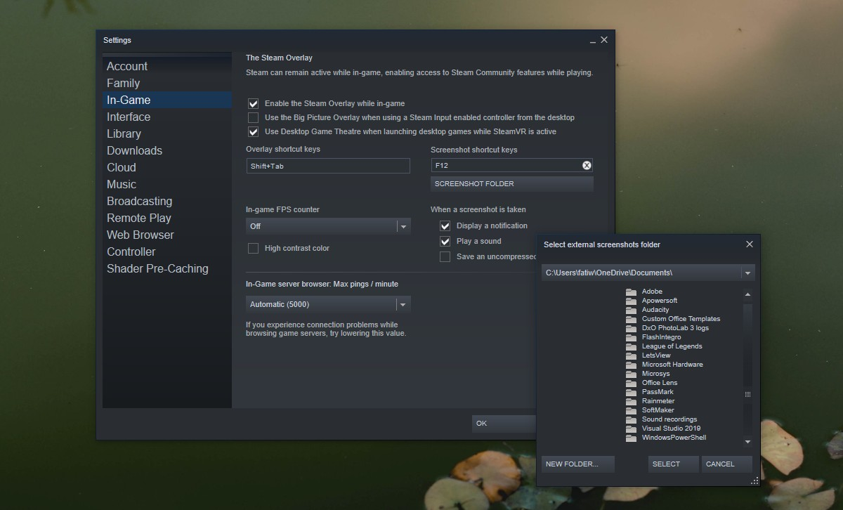 how to change the steam screenshots folder on windows 10 How to change the Steam screenshots folder on Windows 10