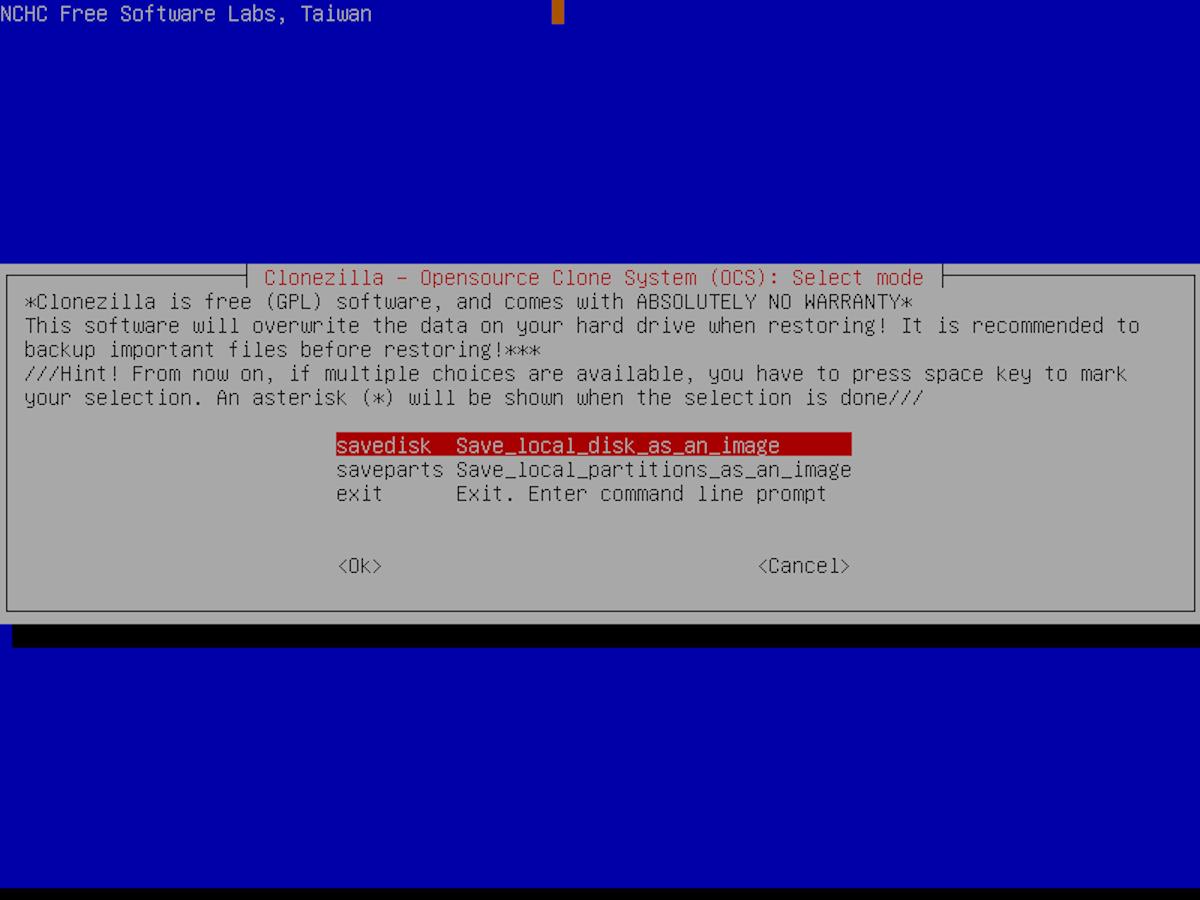 how to clone your ubuntu server installation with clonezilla 6 How to clone your Ubuntu server installation with Clonezilla