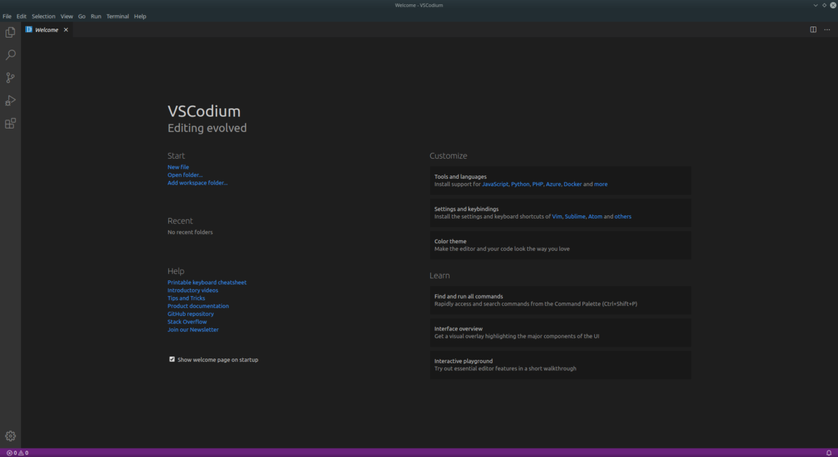 how to install the vscodium ide on linux 1 How to install the VSCodium IDE on Linux