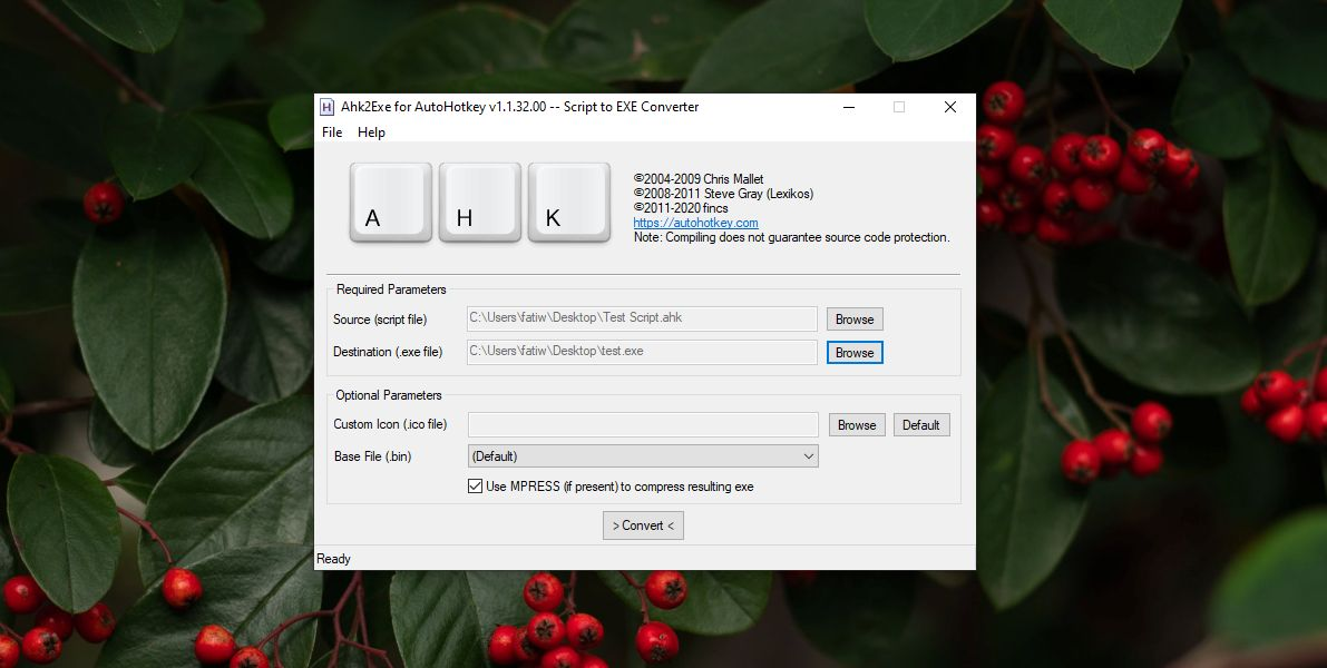 how to package an ahk script as an exe on windows 10 How to package an AHK script as an EXE on Windows 10