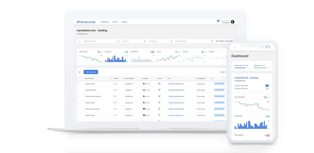 RankTrackify Review - Rank Tracker - Check & Track Your Keyword Rankings