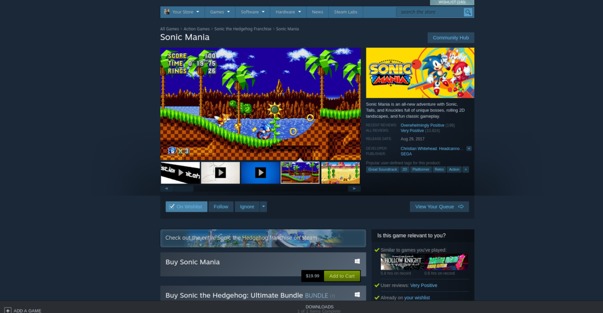 how to play sonic mania on linux 2 How to play Sonic Mania on Linux