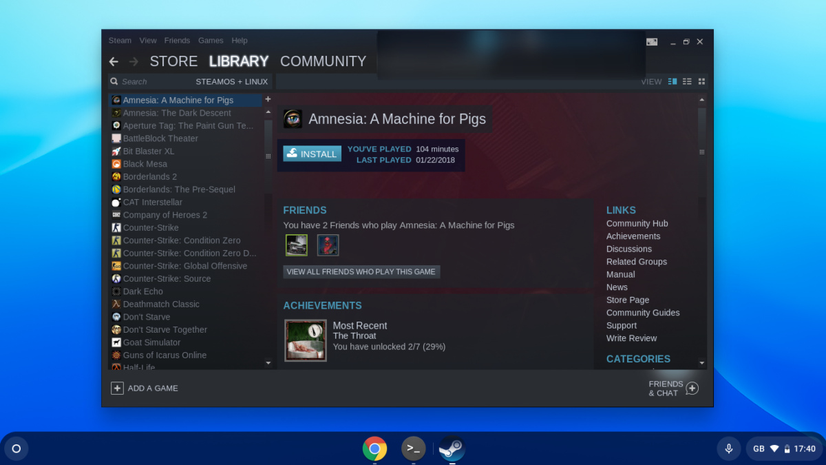 how to play steam games on chrome os with linux support 2 How to play Steam games on Chrome OS with Linux Support