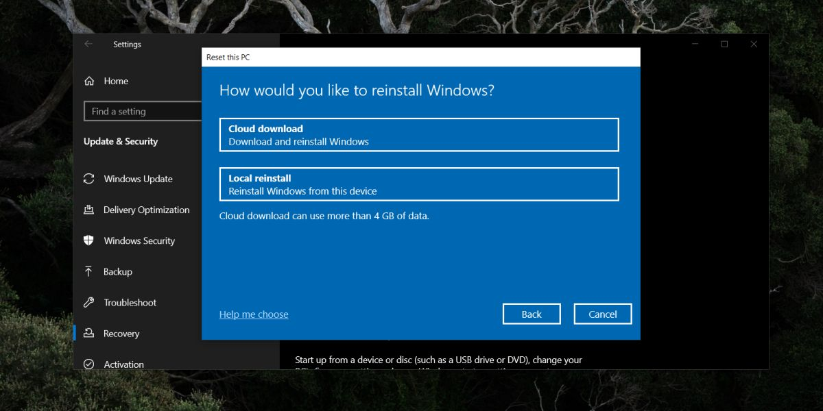 how to use windows 10 cloud recovery to reset the pc 1 How to use Windows 10 Cloud Recovery to reset the PC