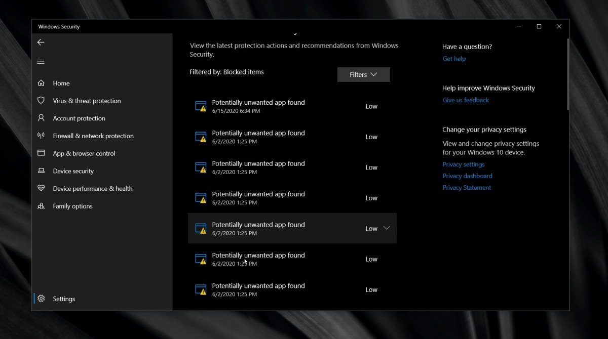 how to clear protection history in windows defender on windows 10 How to clear protection history in Windows Defender on Windows 10
