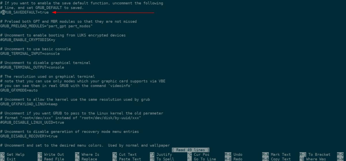 how to disable grub resume on manjaro linux 1 How to disable Grub resume on Manjaro Linux