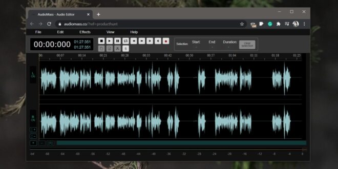 How to edit audio in the browser