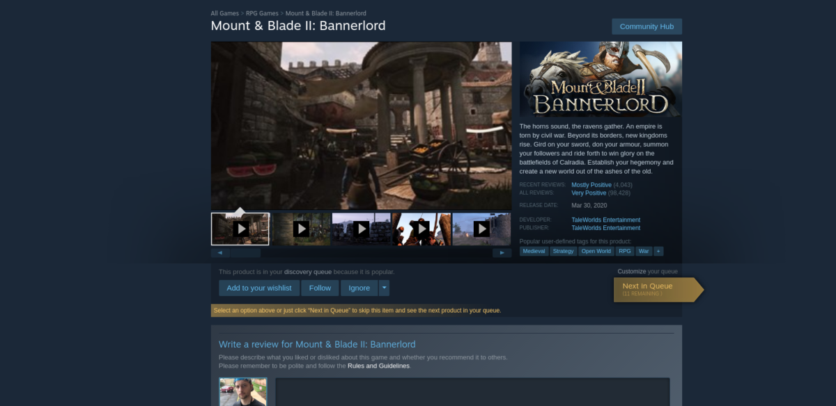 how to play mount blade ii bannerlord on linux 2 How to play Mount & Blade II: Bannerlord on Linux
