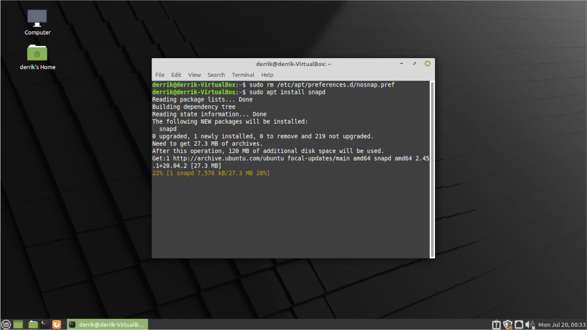 how to re enable snaps in linux mint 20 1 How to re-enable Snaps in Linux Mint 20