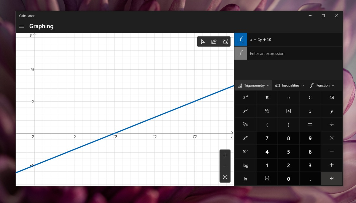 how to use the graph mode in calculator on windows 10 1 How to use the graph mode in Calculator on Windows 10