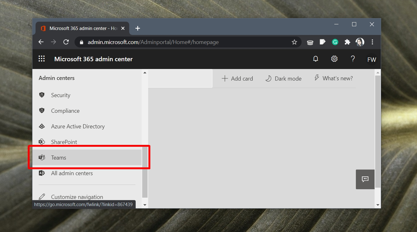 how to access microsoft team admin center How to access Microsoft Team admin center