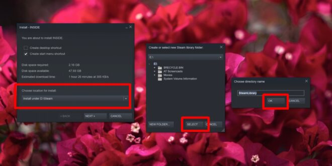 How to install a Steam game to an external drive on Windows 10