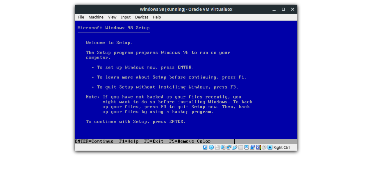 how to run windows 98 on linux in a virtual machine 3 How to run Windows 98 on Linux in a virtual machine