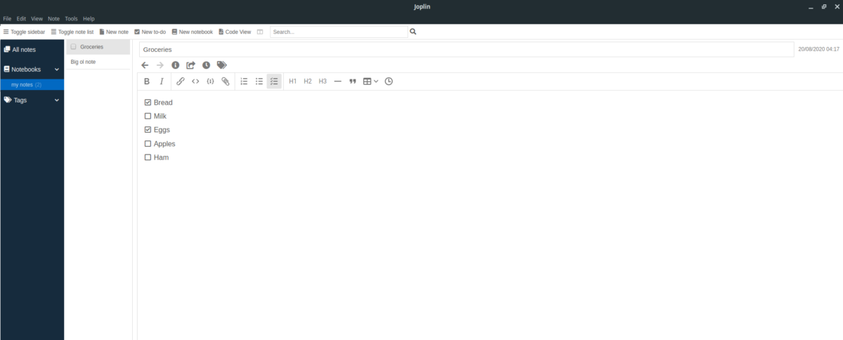 how to set up the joplin note taking app on linux 2 How to set up the Joplin note-taking app on Linux