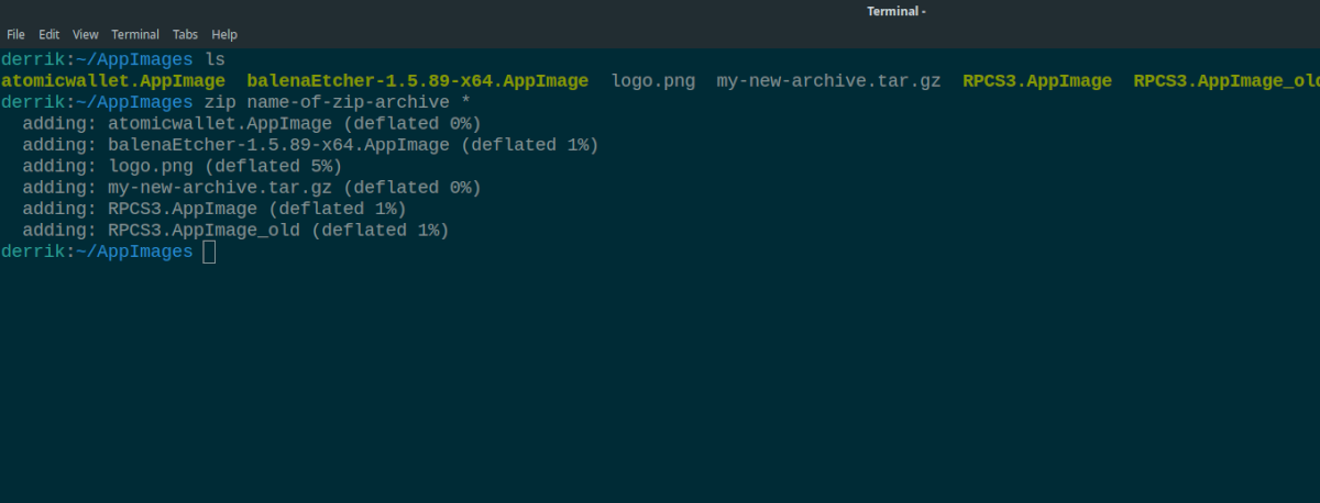 4 ways to compress files in the terminal on linux 3 4 ways to compress files in the terminal on Linux