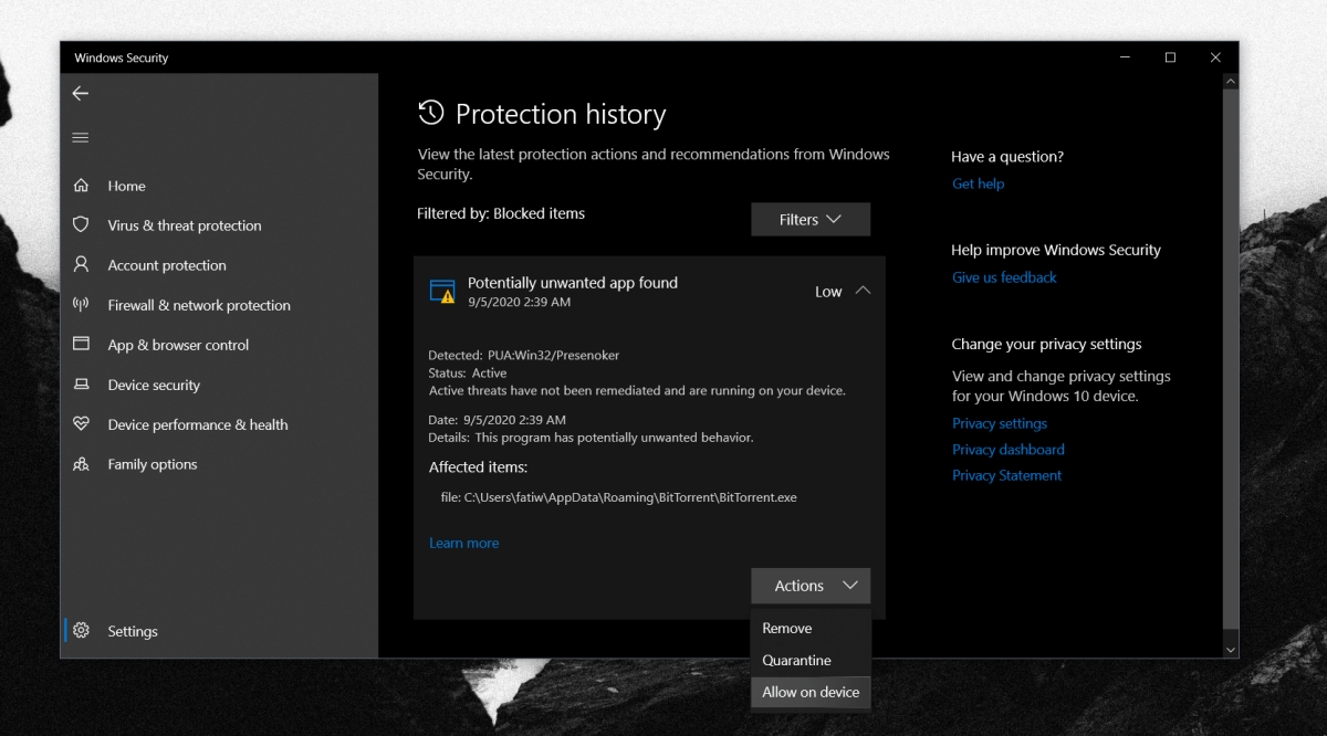 how to fix potentially unwanted app found message on windows 10 1 How to fix 'Potentially unwanted app found' message on Windows 10