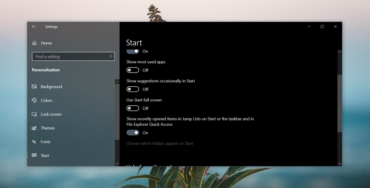 how to hide recent items for apps on windows 10 2 How to hide recent items for apps on Windows 10