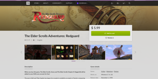 How to play The Elder Scrolls Adventures: Redguard on Linux