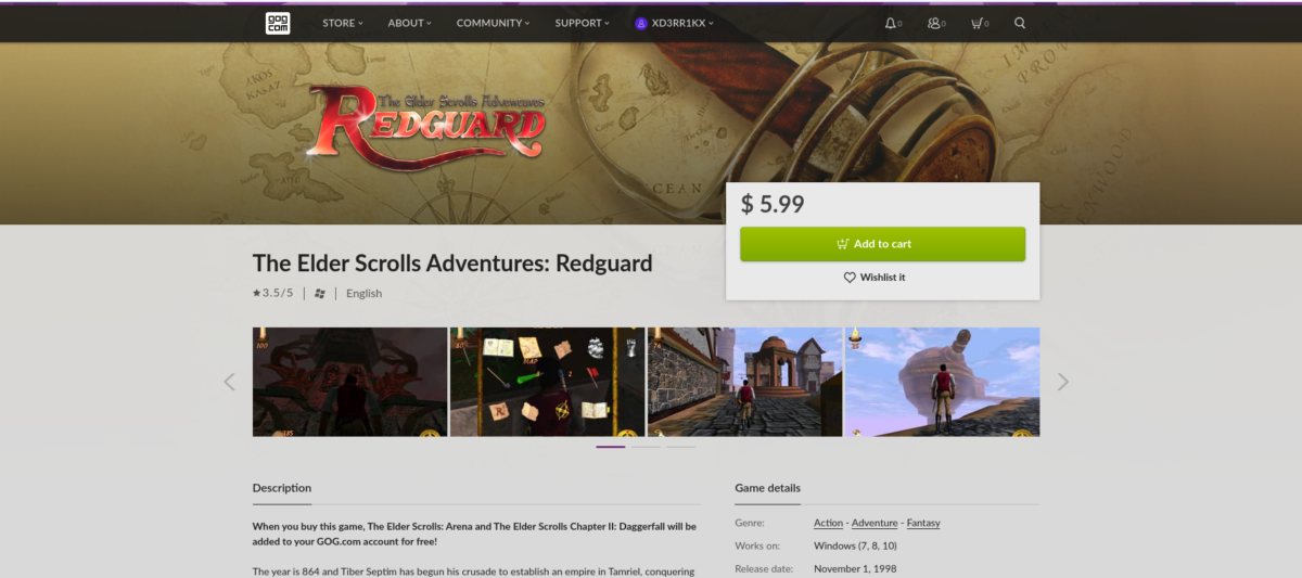 how to play the elder scrolls adventures redguard on How to play The Elder Scrolls Adventures: Redguard on Linux